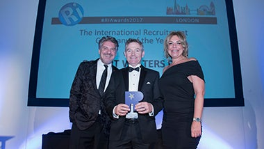 Robert Walters receives the award for Best International Recruiter
