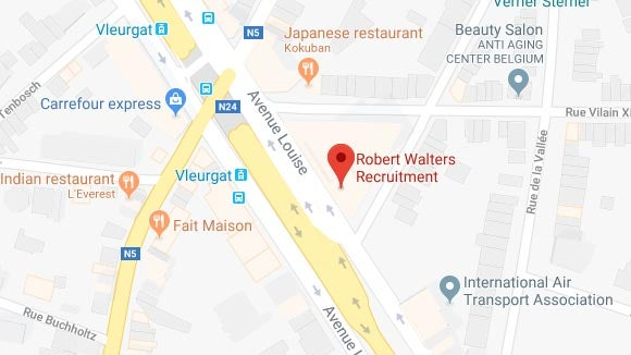 Google map screenshot of the location of our Brussels office